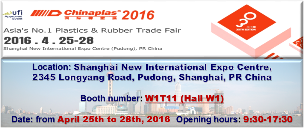 YOUR NEXT MEETING POINT WITH MARCHANTE SAS  – CHINAPLAS 2016, SHANGHAI, CHINA